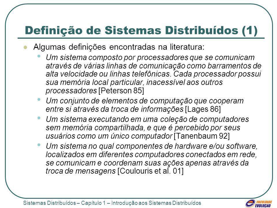 Definição de Sistemas Distribuídos (1)