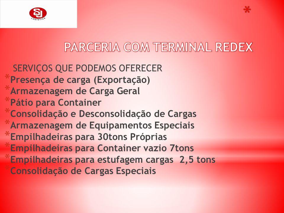 PARCERIA COM TERMINAL REDEX
