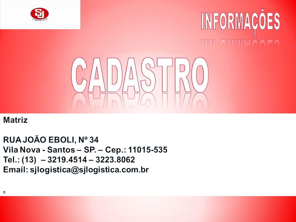 INFORMAÇÕES CADASTRO Matriz RUA JOÃO EBOLI, Nº 34
