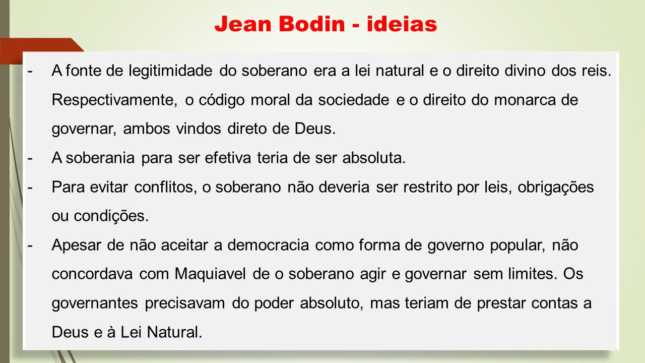 Jean Bodin - ideias