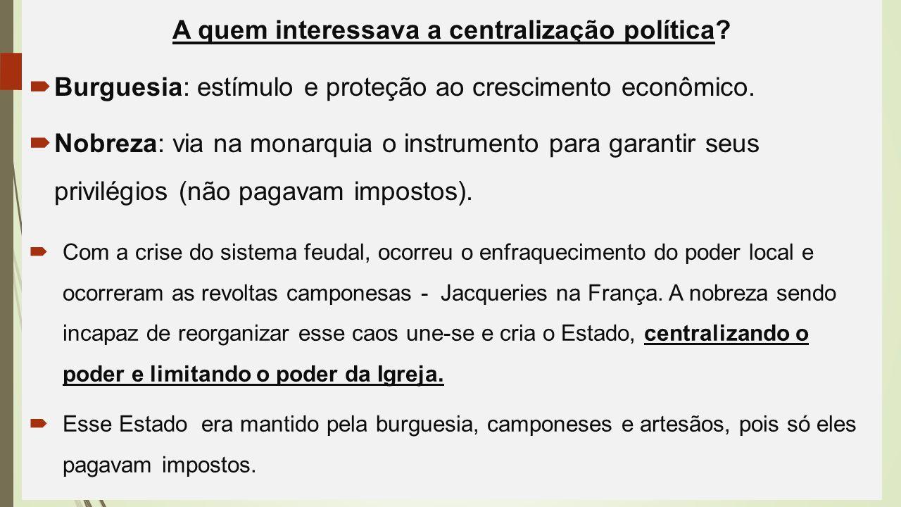 A quem interessava a centralização política