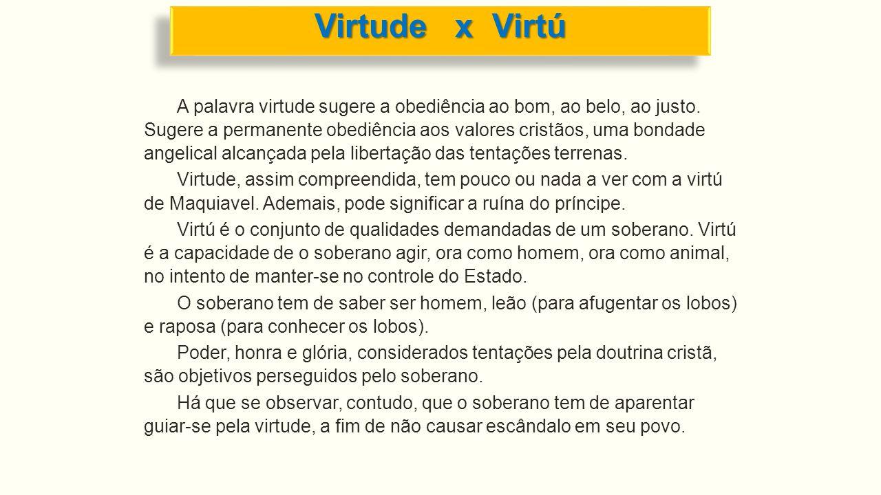 Virtude x Virtú