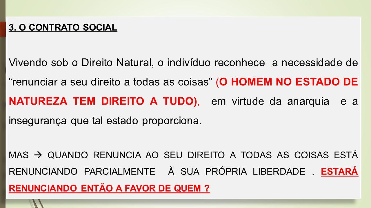 3. O CONTRATO SOCIAL