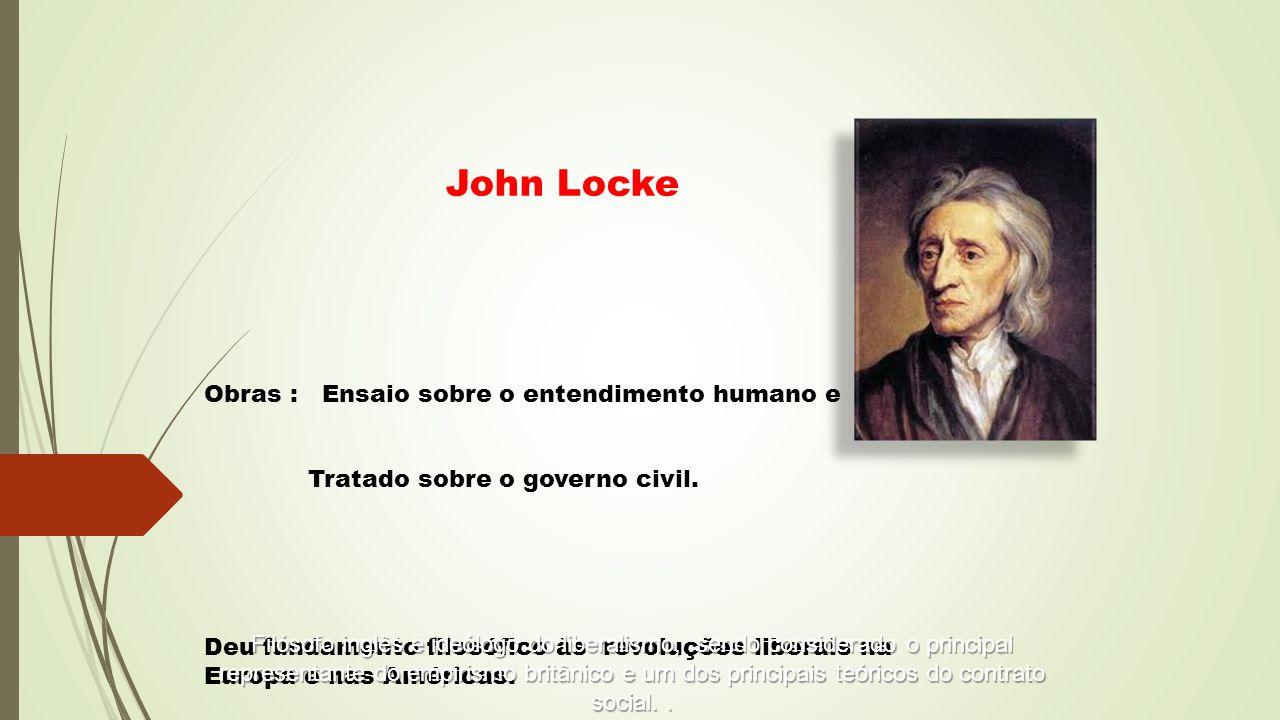 John Locke Obras : Ensaio sobre o entendimento humano e