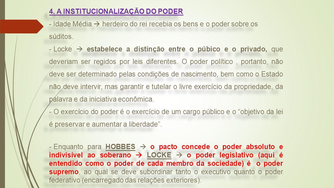 4. A INSTITUCIONALIZAÇÃO DO PODER