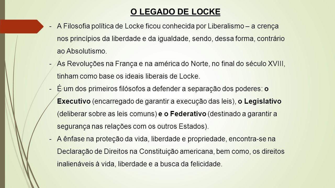 O LEGADO DE LOCKE