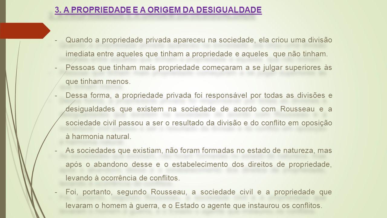 3. A PROPRIEDADE E A ORIGEM DA DESIGUALDADE