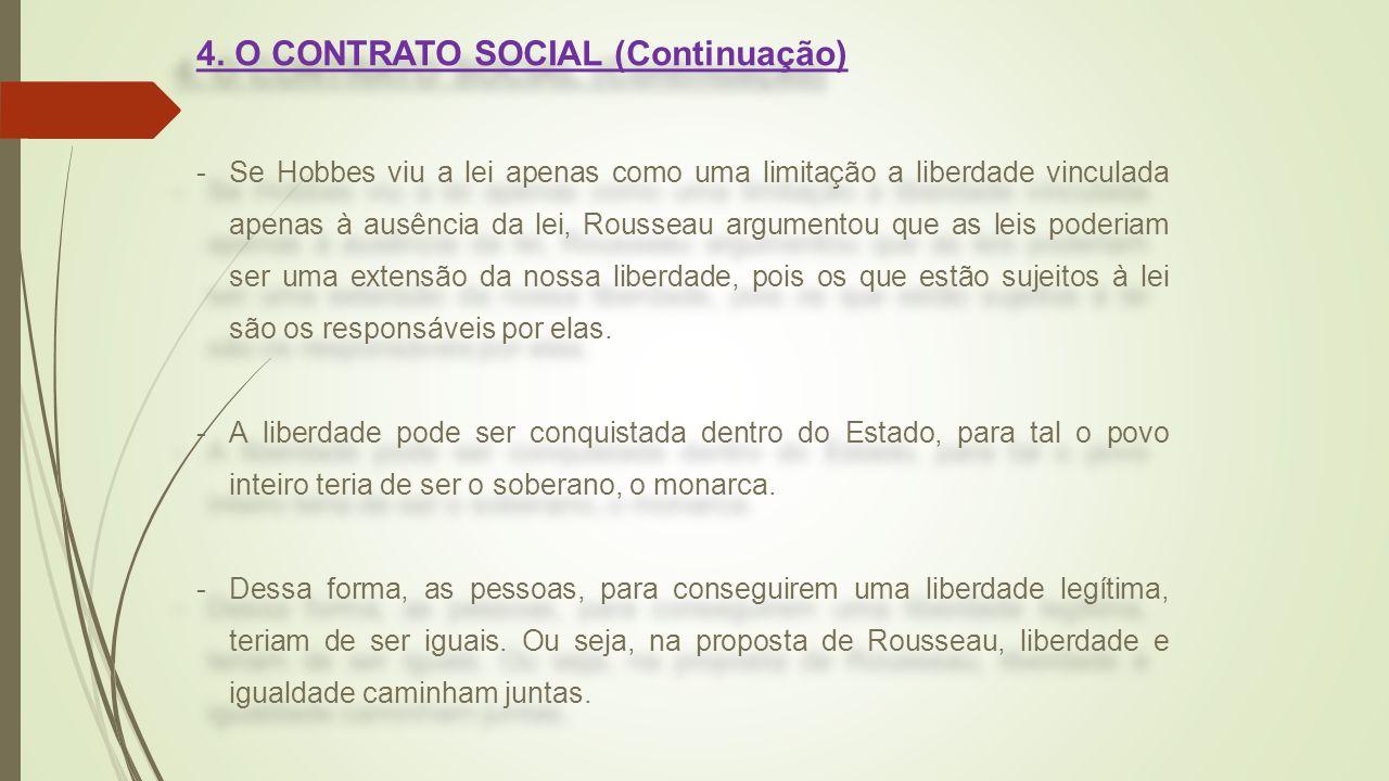 4. O CONTRATO SOCIAL (Continuação)