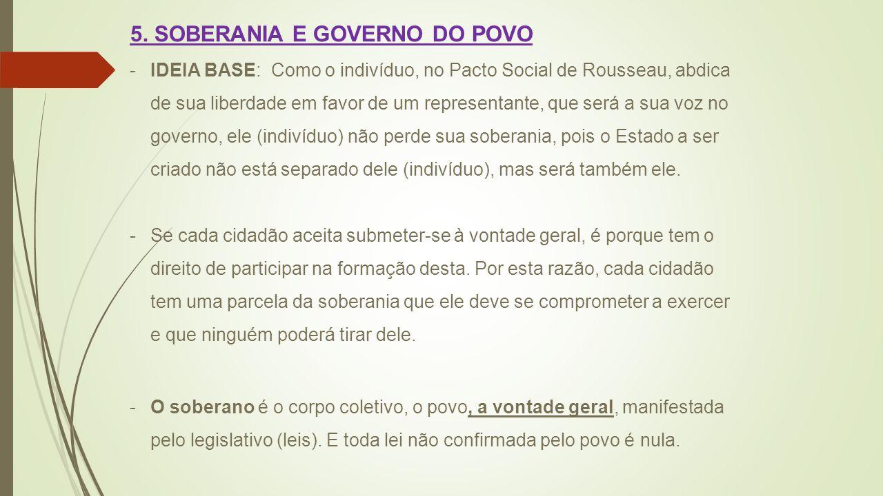 5. SOBERANIA E GOVERNO DO POVO