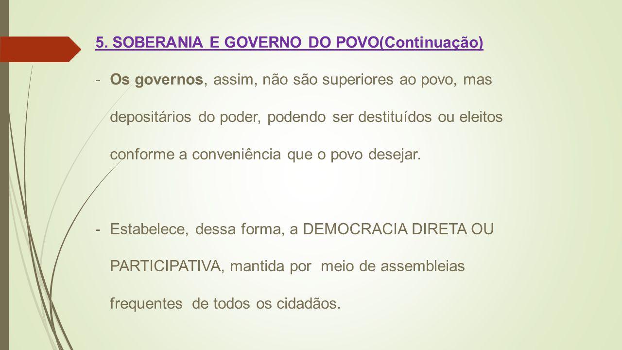 5. SOBERANIA E GOVERNO DO POVO(Continuação)