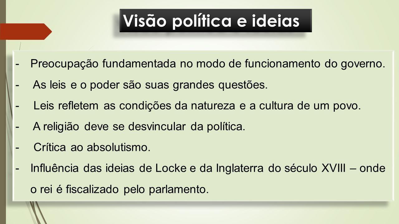 Visão política e ideias