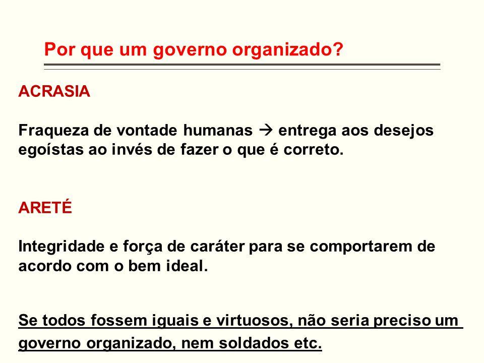 Por que um governo organizado