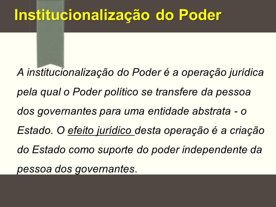 Institucionalização do Poder