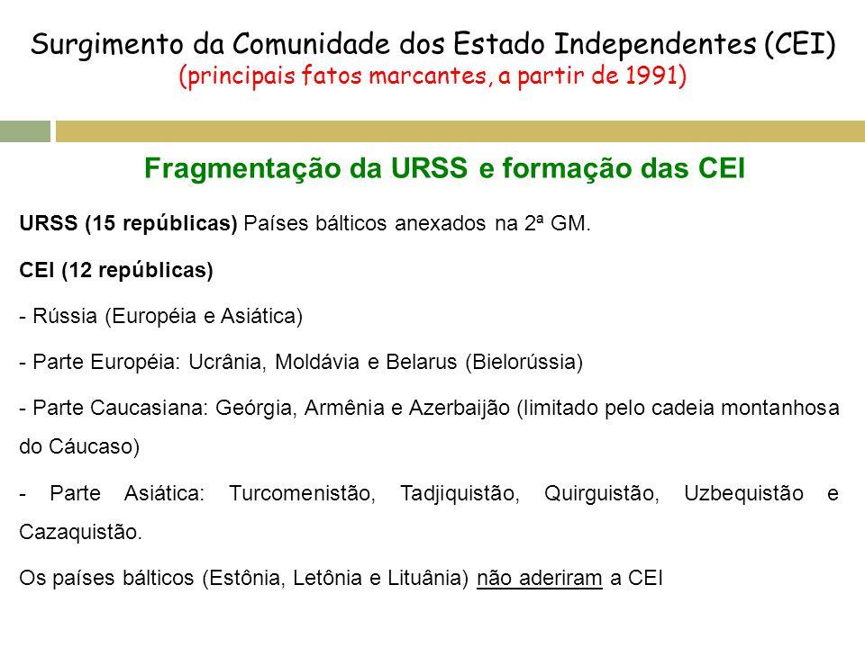 Surgimento da Comunidade dos Estado Independentes (CEI)