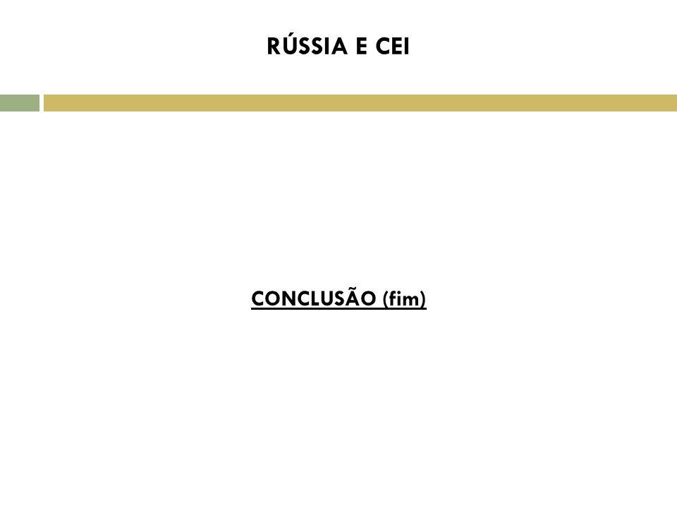 RÚSSIA E CEI C CONCLUSÃO (fim)
