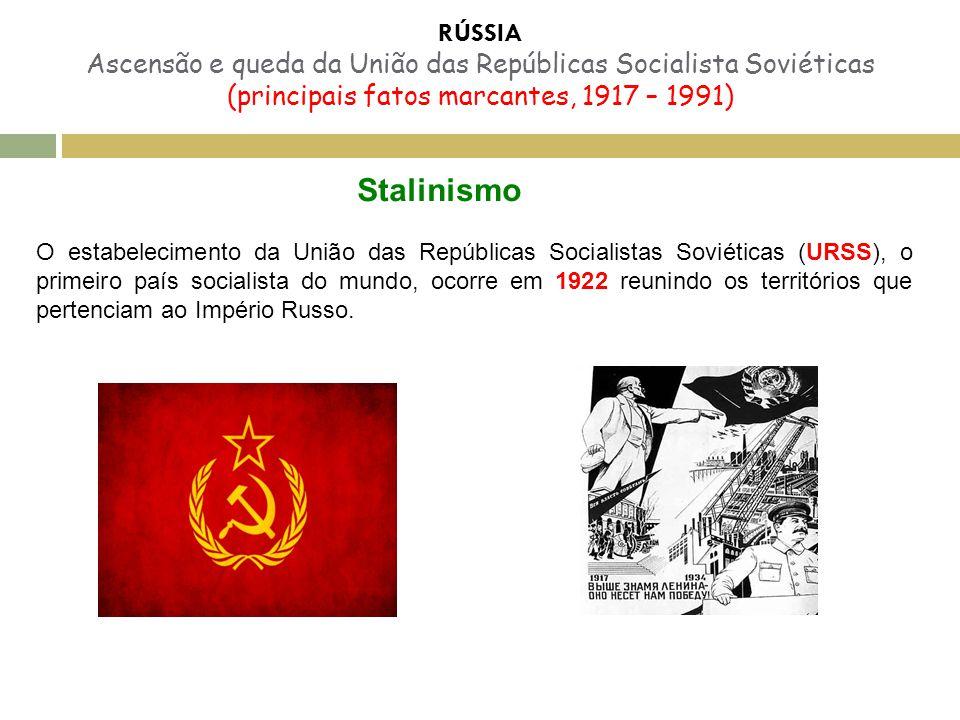 RÚSSIA Ascensão e queda da União das Repúblicas Socialista Soviéticas (principais fatos marcantes, 1917 – 1991)