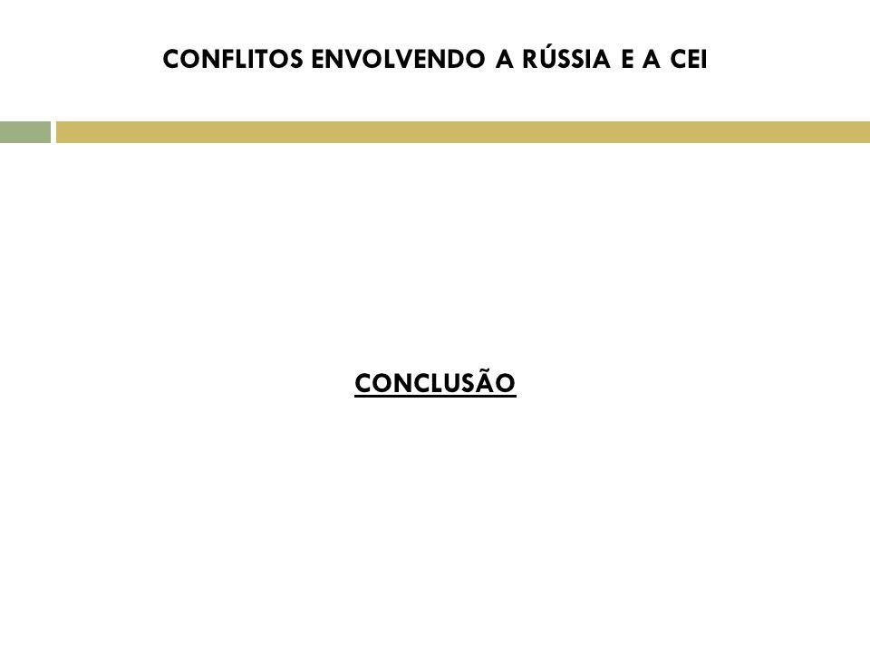 CONFLITOS ENVOLVENDO A RÚSSIA E A CEI