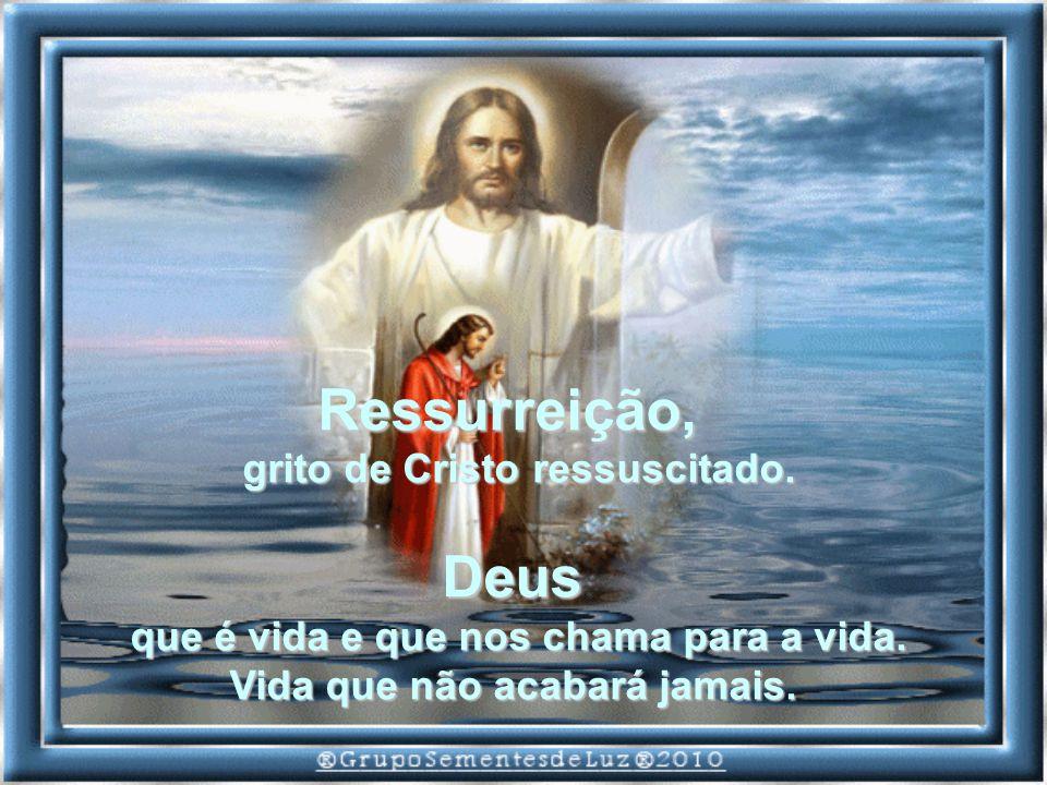 Ressurreição, Deus grito de Cristo ressuscitado.