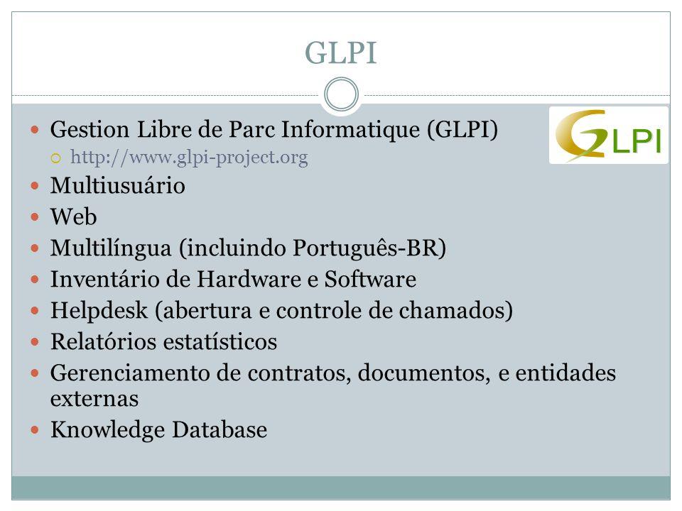 GLPI Gestion Libre de Parc Informatique (GLPI) Multiusuário Web