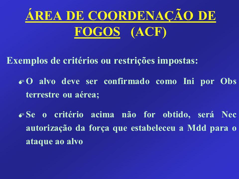 ÁREA DE COORDENAÇÃO DE FOGOS (ACF)