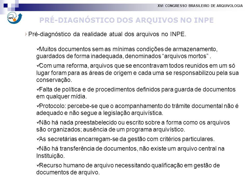 PRÉ-DIAGNÓSTICO DOS ARQUIVOS NO INPE