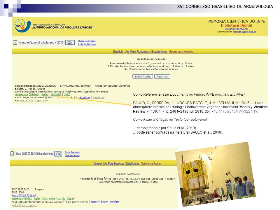 14 XVI CONGRESSO BRASILEIRO DE ARQUIVOLOGIA