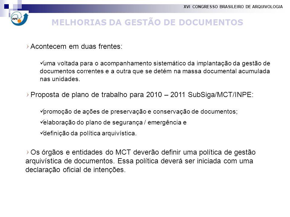 MELHORIAS DA GESTÃO DE DOCUMENTOS