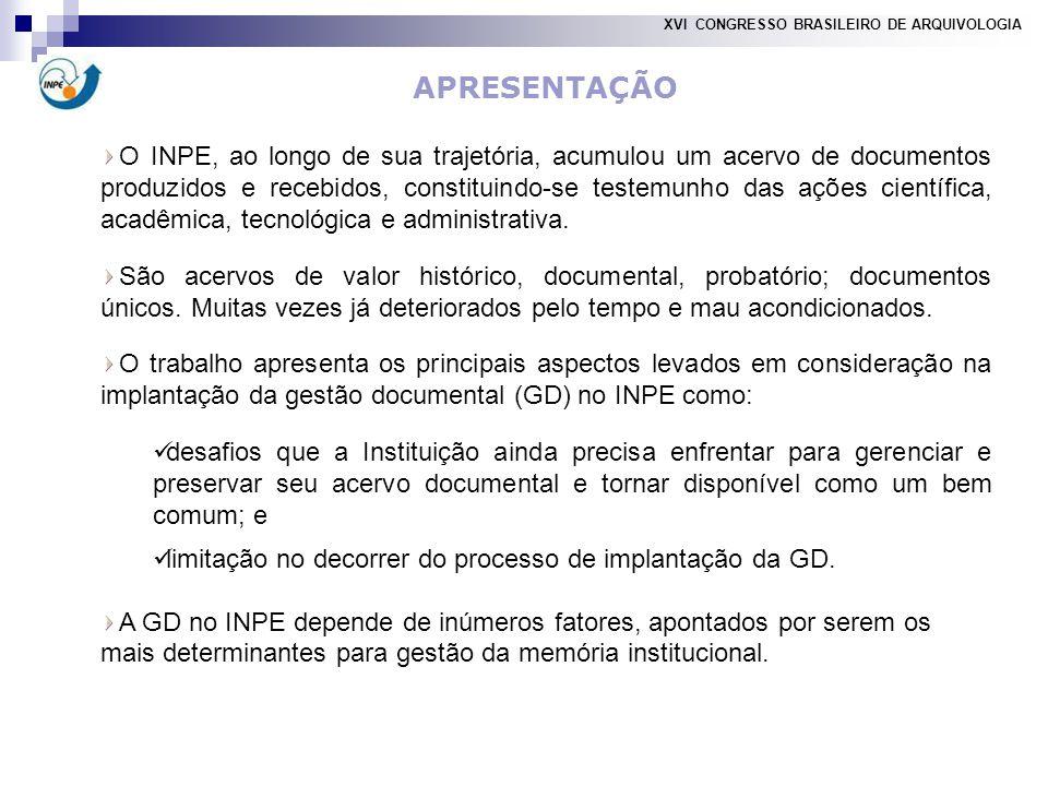 XVI CONGRESSO BRASILEIRO DE ARQUIVOLOGIA