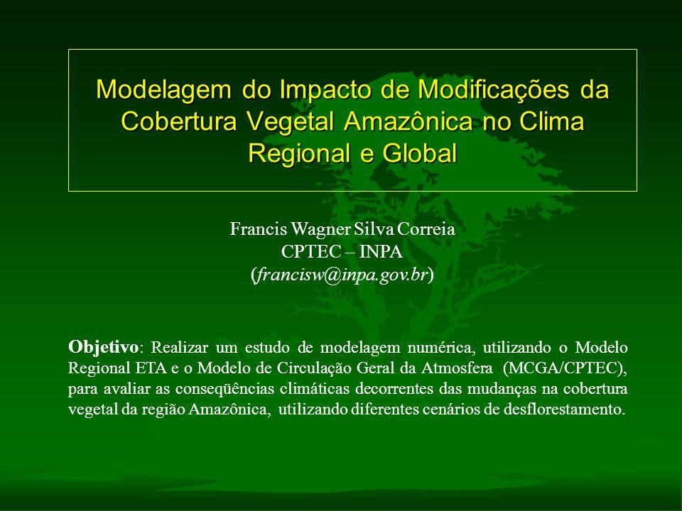 Modelagem do Impacto de Modificações da Cobertura Vegetal Amazônica no Clima Regional e Global