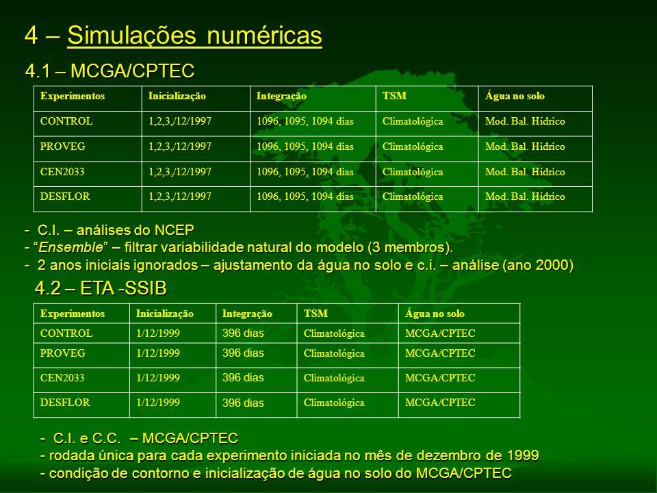 4 – Simulações numéricas