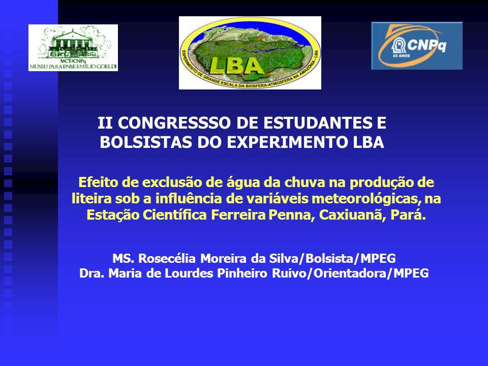II CONGRESSSO DE ESTUDANTES E BOLSISTAS DO EXPERIMENTO LBA