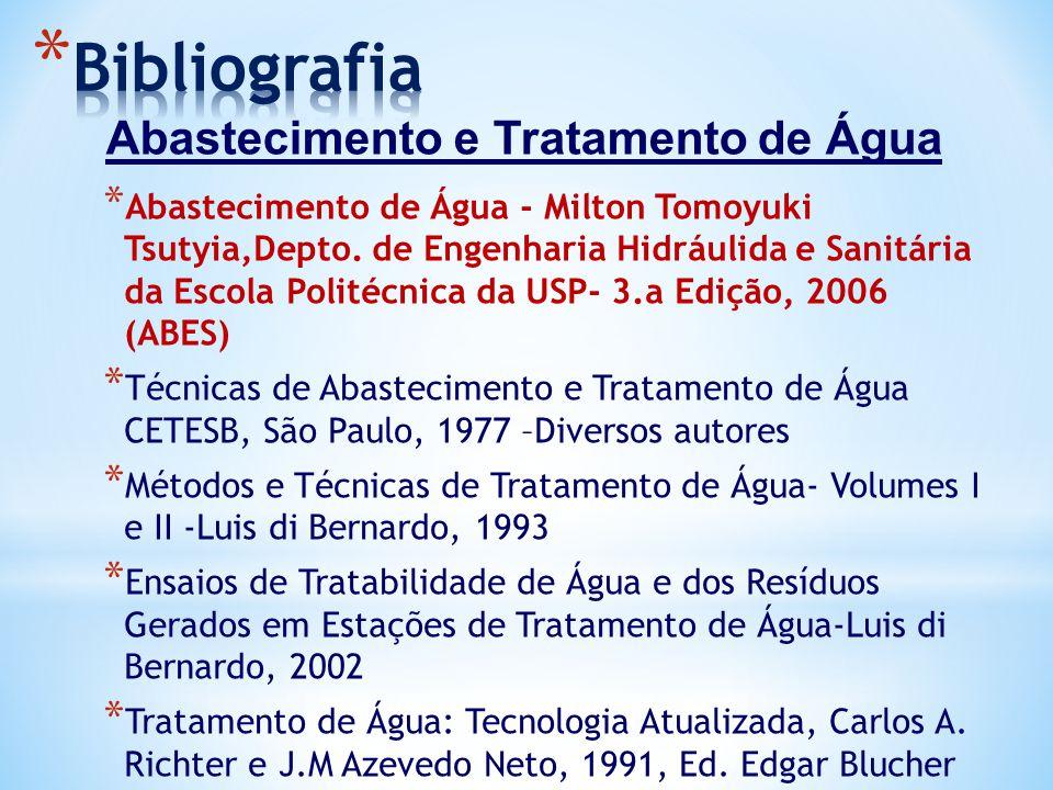 Bibliografia Abastecimento e Tratamento de Água
