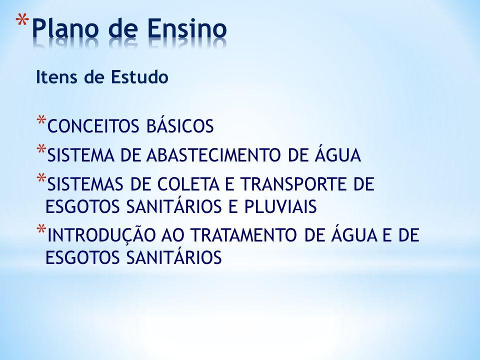 Plano de Ensino Itens de Estudo CONCEITOS BÁSICOS