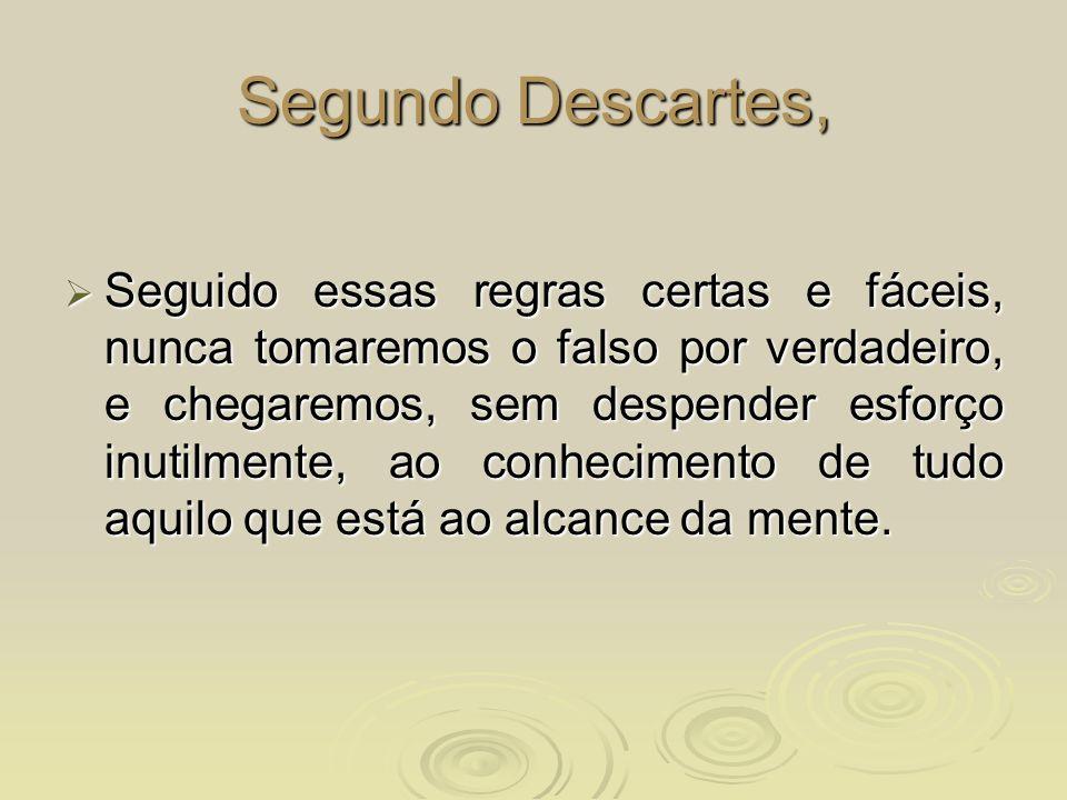 Segundo Descartes,