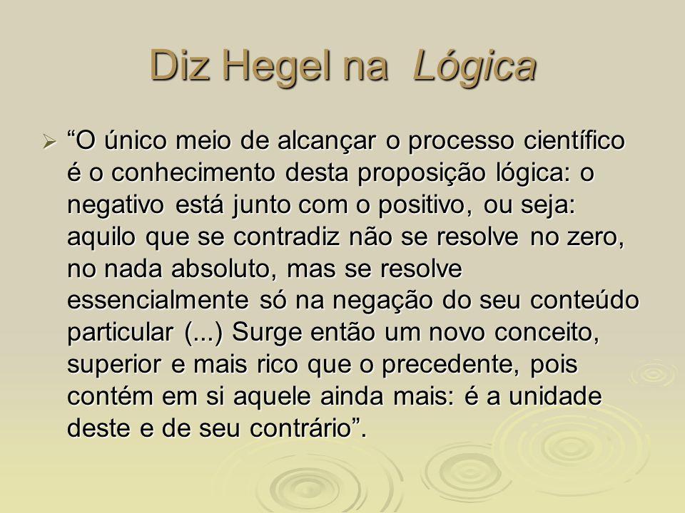 Diz Hegel na Lógica