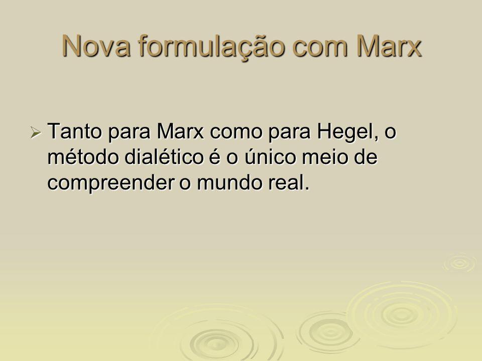 Nova formulação com Marx