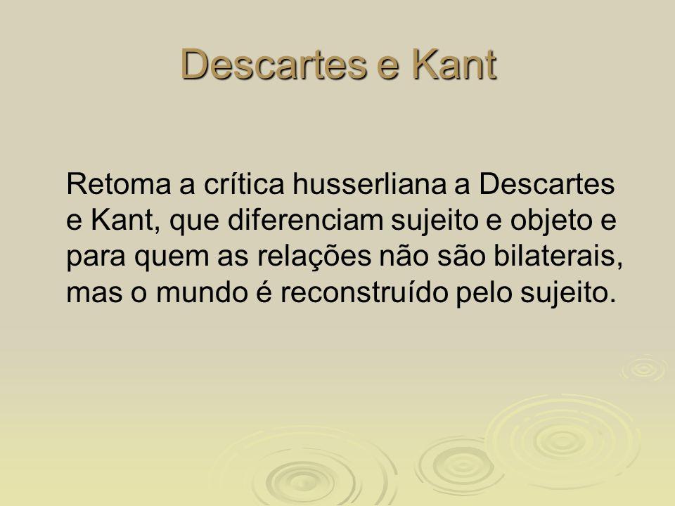 Descartes e Kant