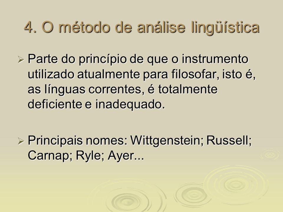 4. O método de análise lingüística