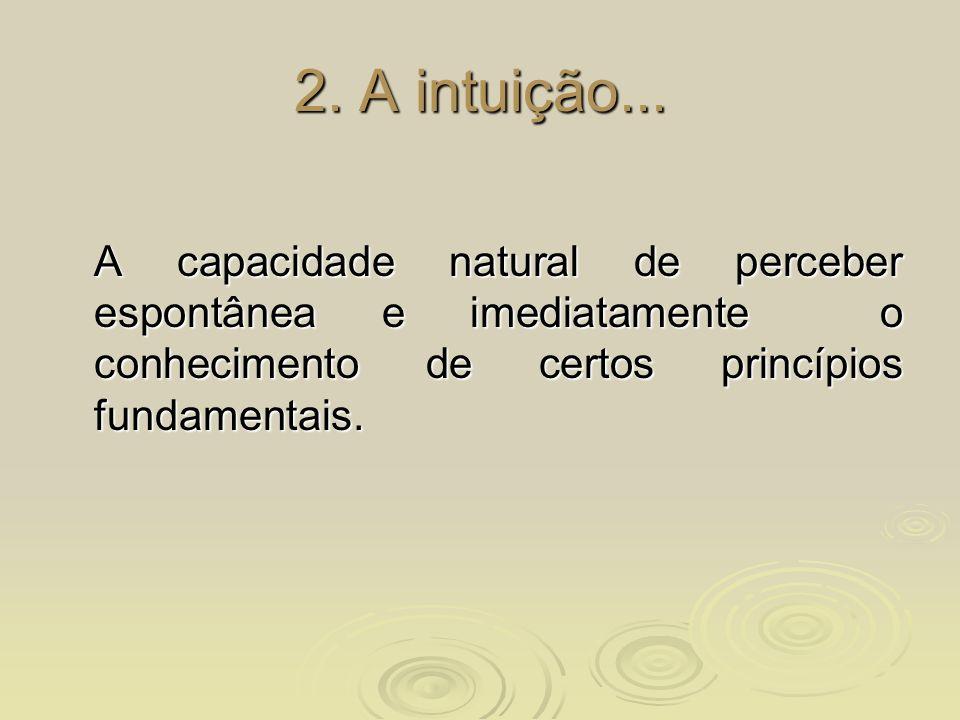 2. A intuição...