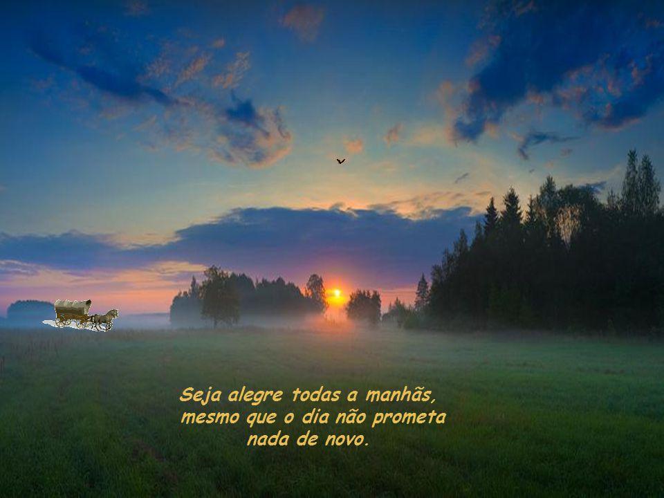 Seja alegre todas a manhãs, mesmo que o dia não prometa