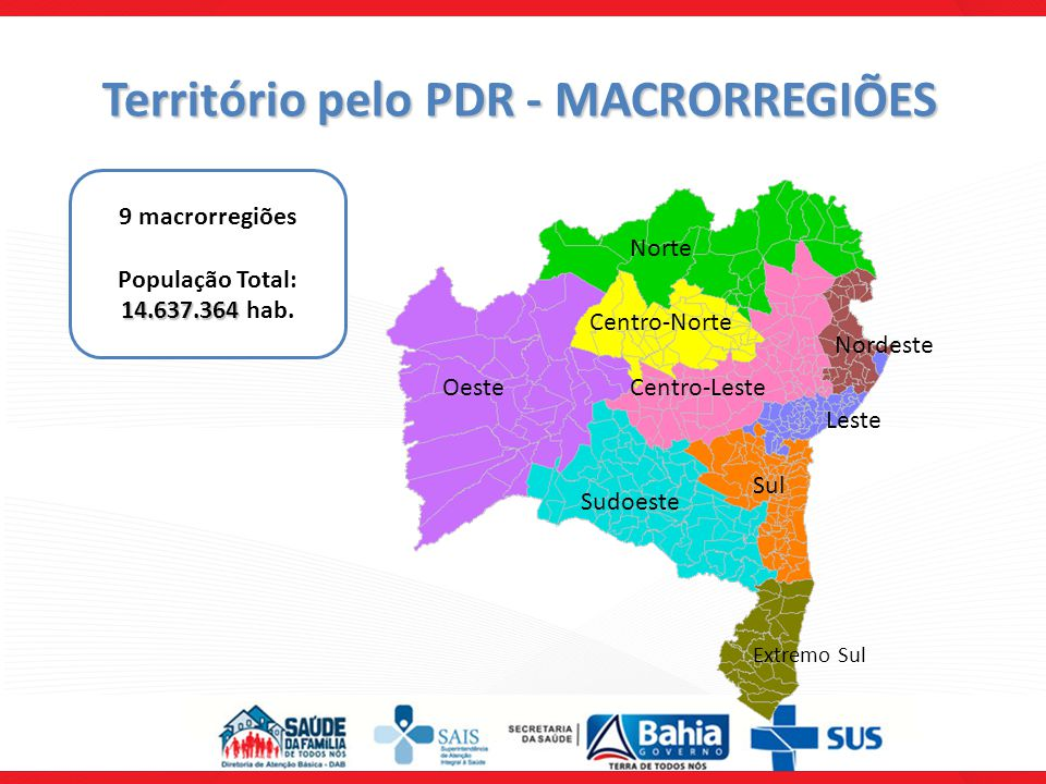 Território pelo PDR - MACRORREGIÕES