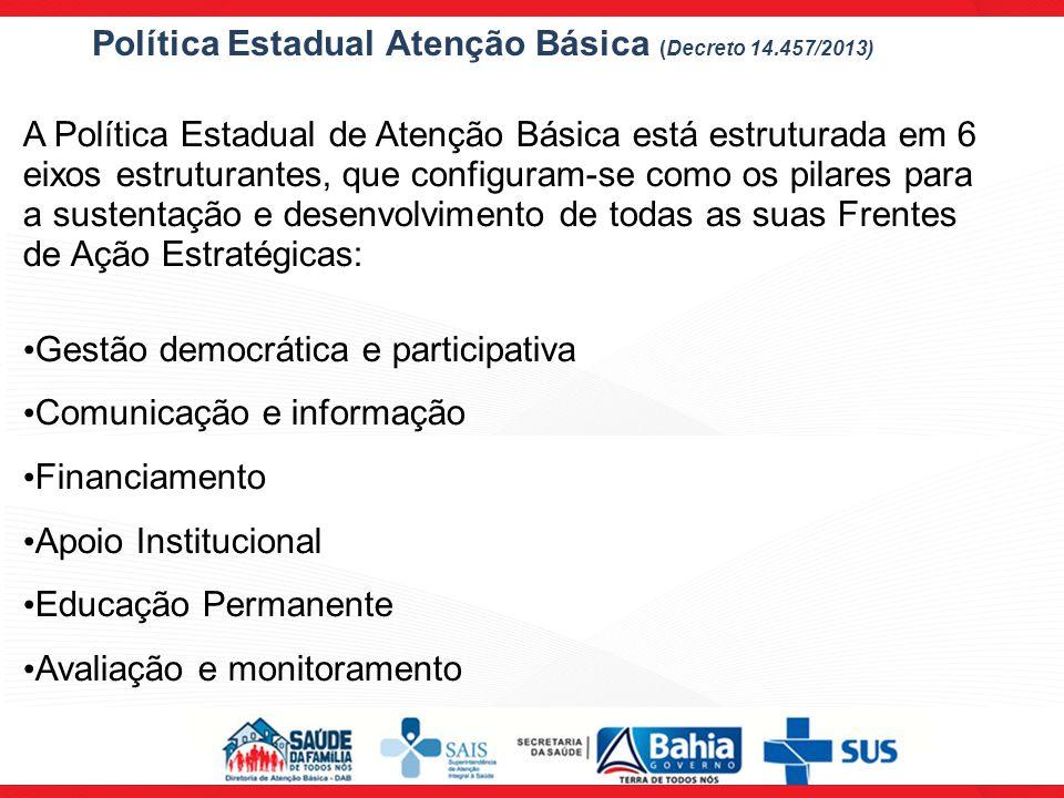 Política Estadual Atenção Básica (Decreto 14.457/2013)