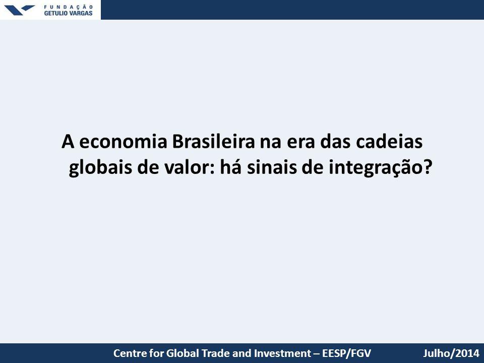 A economia Brasileira na era das cadeias globais de valor: há sinais de integração