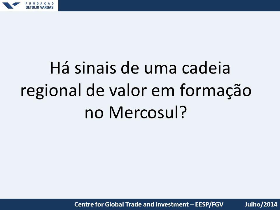 Há sinais de uma cadeia regional de valor em formação no Mercosul
