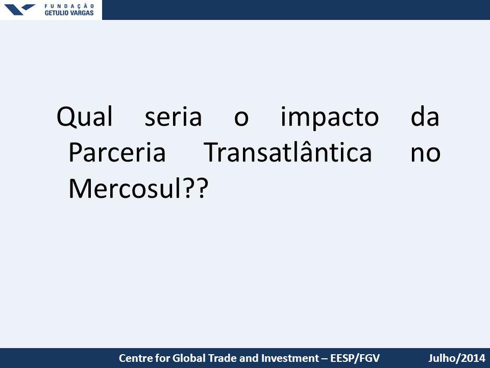 Qual seria o impacto da Parceria Transatlântica no Mercosul