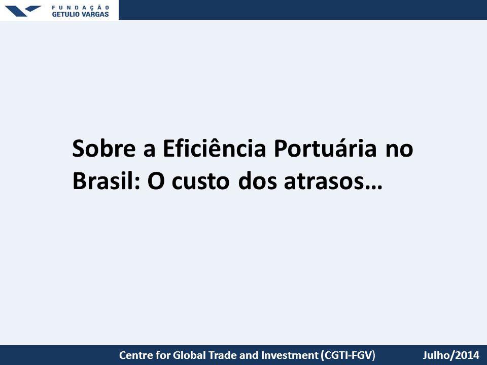 Sobre a Eficiência Portuária no Brasil: O custo dos atrasos…