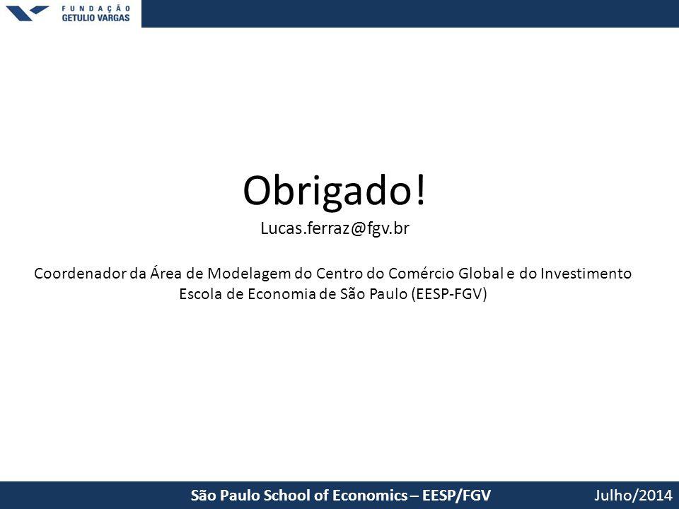 Obrigado! Lucas.ferraz@fgv.br