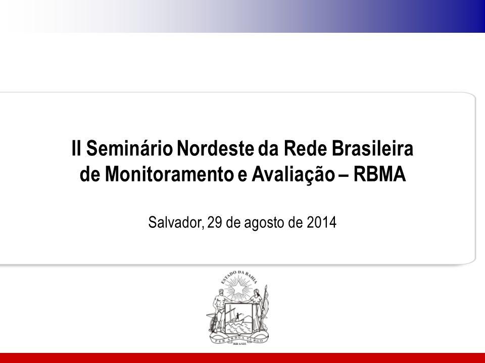 II Seminário Nordeste da Rede Brasileira de Monitoramento e Avaliação – RBMA