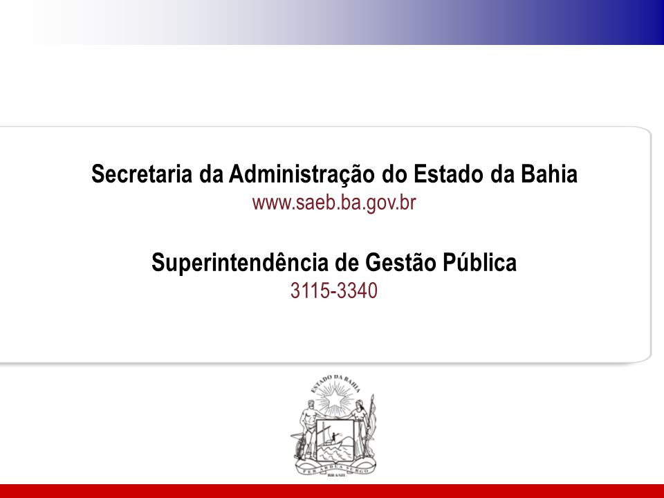 Secretaria da Administração do Estado da Bahia