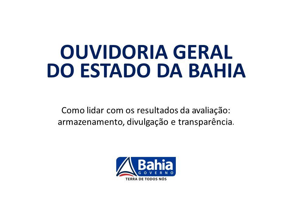 OUVIDORIA GERAL DO ESTADO DA BAHIA